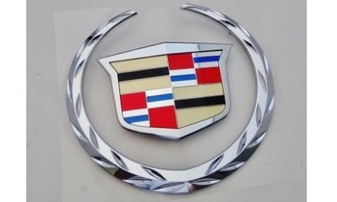 ESCALADE CHROME GRILLE WREATH AND CREST W/O PLATE 2007-2014