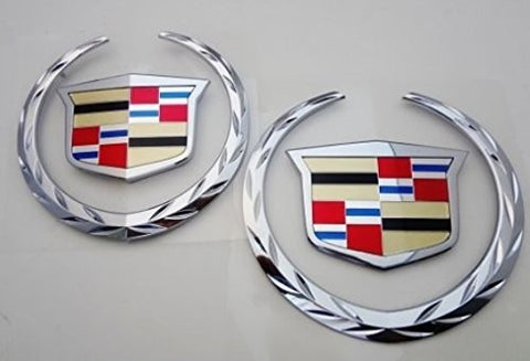 ESCALADE FRONT AND REAR CHROME WREATH AND CREST W/O PLATES 2007-2014