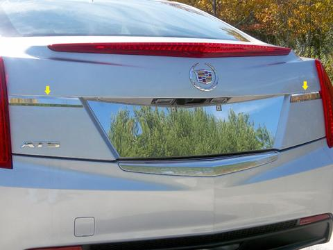 STAINLESS STEEL REAR LICENSE TRIM 2PC FITS 2013-2018 CADILLAC ATS LB53235