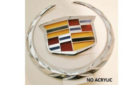 ESCALADE CHROME REAR TAILGATE WREATH AND CREST EMBLEM 2015 ONLY