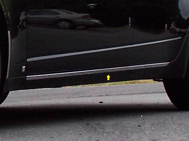 STAINLESS ROCKER PANEL TRIM 2PC FITS CADILLAC CTS SPORT WAGON TH48250