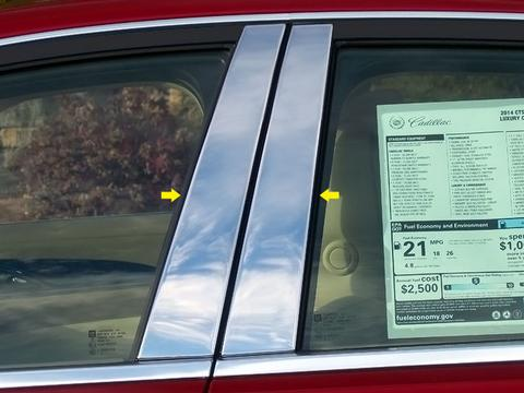 STAINLESS STEEL PILLAR TRIM 4PC FITS 2014-2019 CADILLAC CTS PP54444