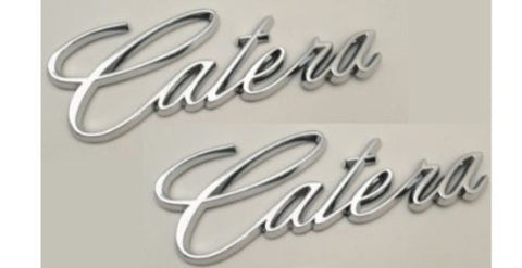Catera Script Emblem Pair Chrome