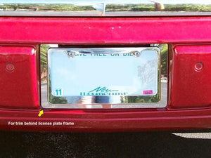 STAINLESS LICENSE PLATE BEZEL 1PC FITS 2006-2011 CADILLAC DTS LP46245