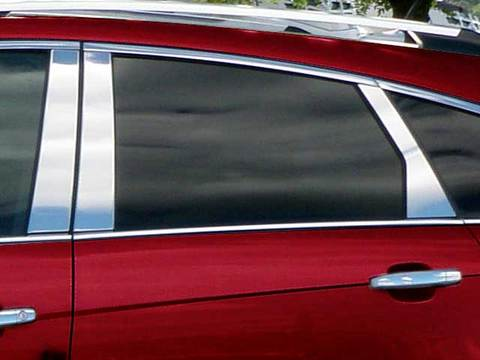 STAINLESS STEEL PILLAR TRIM 6PC FITS 2010-2016 CADILLAC SRX PP50261