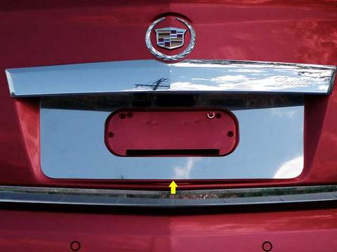 STAINLESS LICENSE PLATE BEZEL 1PC FITS 2010-2016 CADILLAC SRX LP50260