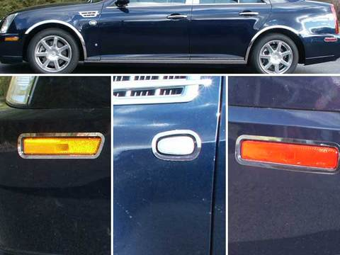 STAINLESS STEEL MARKER LIGHT TRIM 6PC FITS 2005-2008 CADILLAC STS ML45236