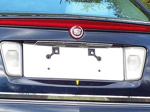 STAINLESS LICENSE PLATE BEZEL 1PC FITS 2005-2011 CADILLAC STS LP45236
