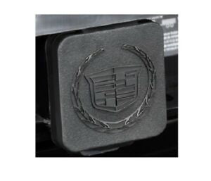 CADILLAC ESCALADE TRAILER TOW HITCH COVER W/ WREATH & CREST LOGO