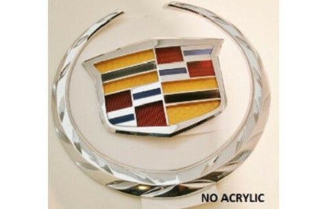 CTS V Sport Grille Wreath and Crest Chrome 2014-2015