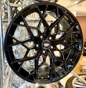 "HI-GLOSS BLACK STASH 20"" X 8.5"" SET OF 4 WHEELS"