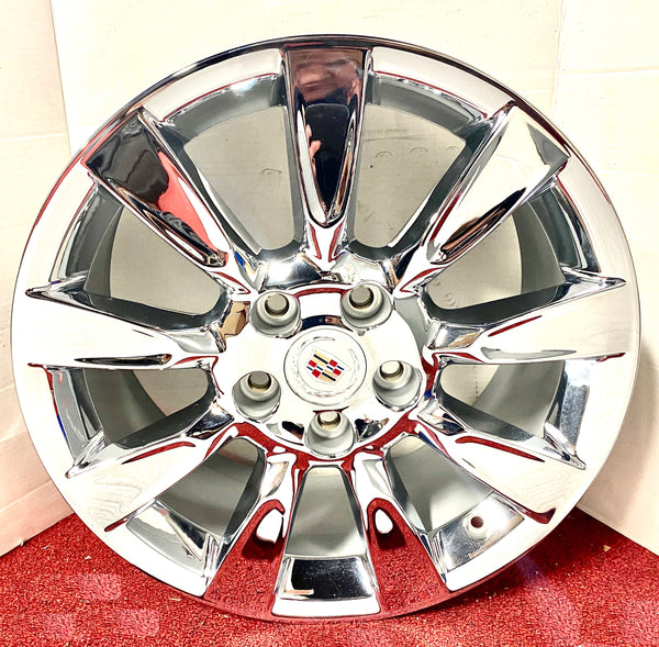 "XLR PLATINUM CHROME 18"" X 8"" GENUINE FACTORY GM SET OF 4 WHEELS"