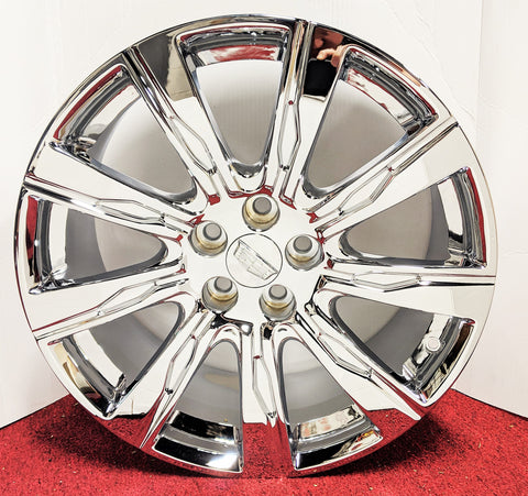 "OE TRIPLE CHROME PLATED 20"" X 8.5"" FIT XTS CTS XT4 CT6 FACTORY GM WHEELS"