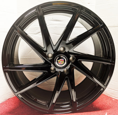 "ONYX DEEP BLACK GLOSS 20"" X 8.5"" SET OF 4 WHEELS"