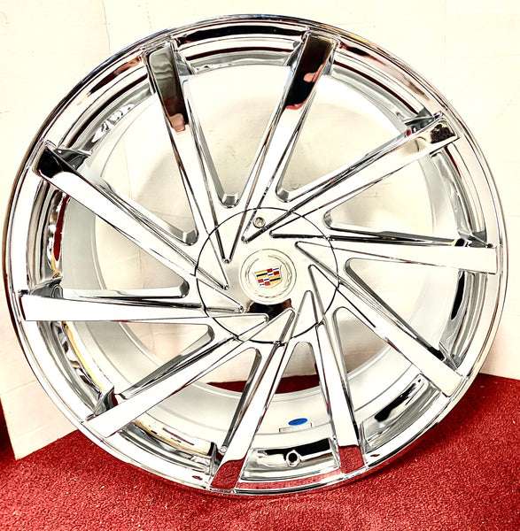 "SPINN CHROME 20"" X 8.5"" SET OF 4 WHEELS"