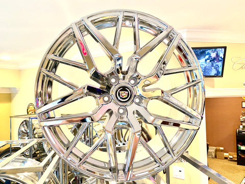 "CHROME STACKED 20"" X 8.5"" SET OF 4 WHEELS"
