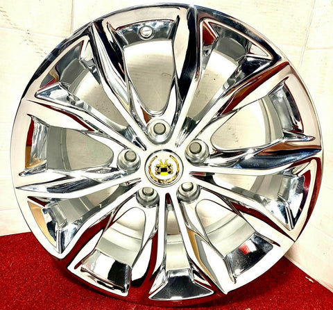 "SET OF 4 FACTORY GM TRIPLE CHROME PLATED 18"" X 8.5"" WHEELS FIT MOST CADILLAC"