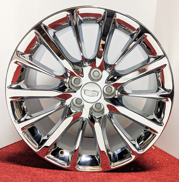 "XTS CTS CTS V CT6 CHROME 19"" X 8.5"" GENUINE FACTORY GM SET OF 4 WHEELS"