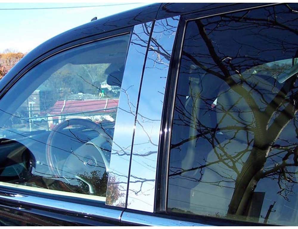 2007-2014 CADILLAC ESCALADE 4 PC STAINLESS STEEL PILLAR POST TRIM KIT, 4-DOOR, SUV, EXT) PP47255