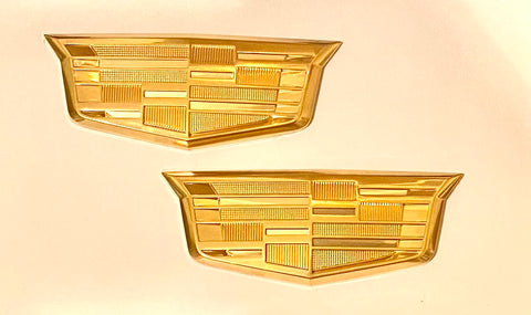 CT6 Fender Crest Emblem Pair 24k Gold 2016-2020