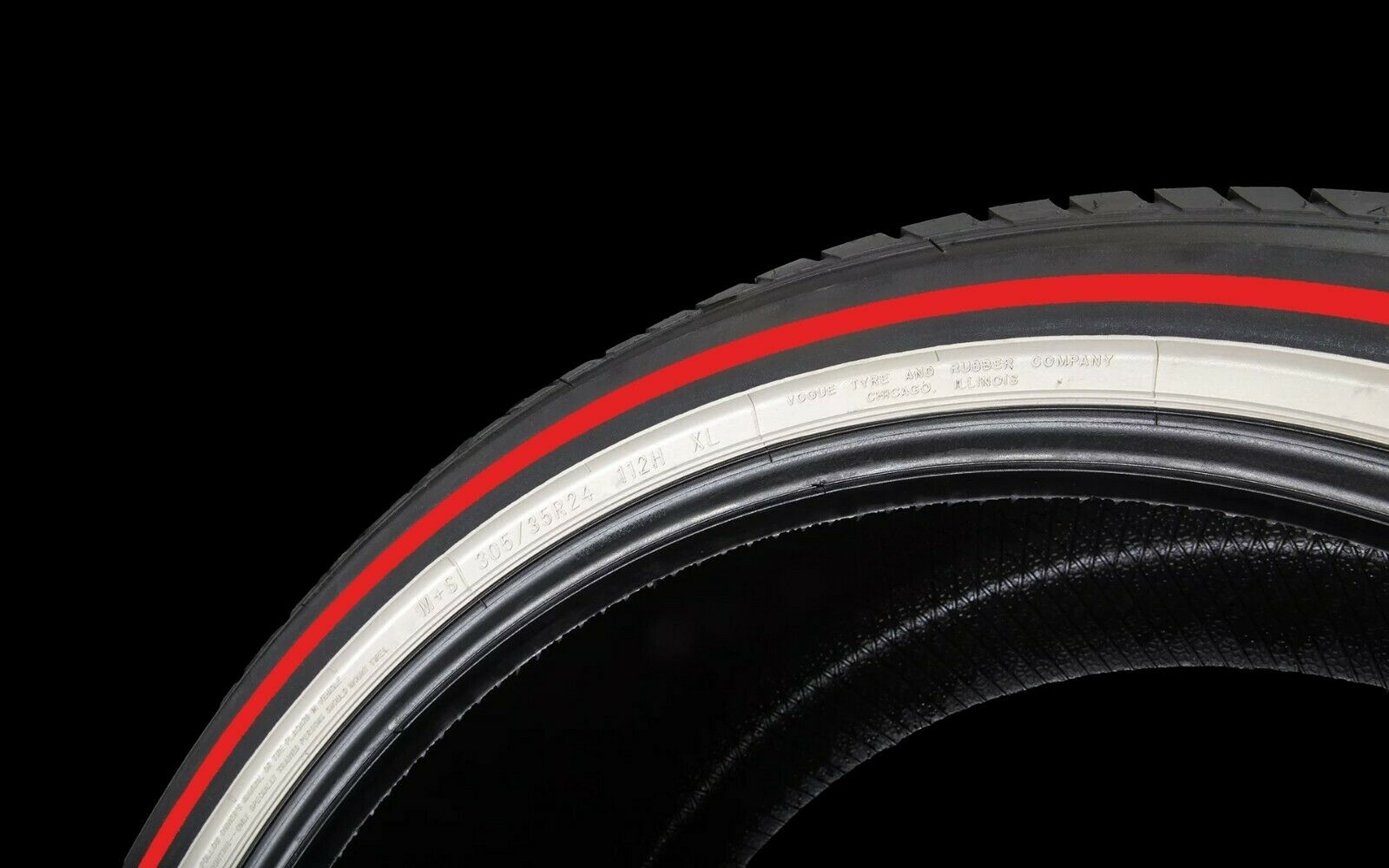 VOGUE TYRE LIMITED EDITION 245-40R20 RED AND WHITE SET OF 4 TIRES