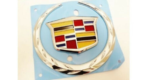 ATS CHROME REAR TRUNK WREATH AND CREST EMBLEM 2013-2015