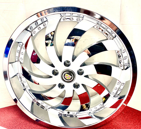 "CHROME WIND 20"" X 8.5"" SET OF 4 WHEELS DIRECTIONAL"