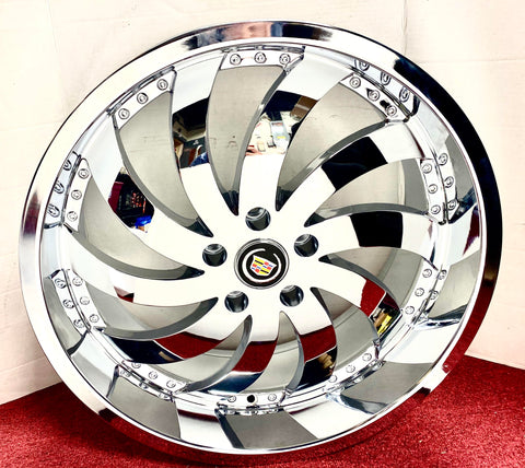 "CHROME WIND 20"" X 8.5"" SET OF 4 WHEELS"