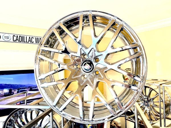"CHROME STACKED II 20"" X 8.5"" SET OF 4 WHEELS"