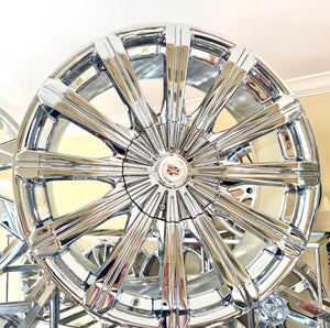 "CHROME RIBBON 20"" X 8.5"" SET OF 4 WHEELS"