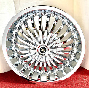 "CHROME DALLAS 20"" X 8.5"" SET OF 4 WHEELS"