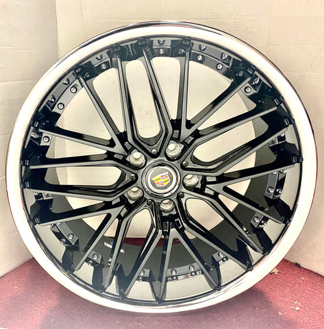 "CEO BLACK STAINLESS LIP 20"" X 8.5"" SET OF 4 WHEELS"