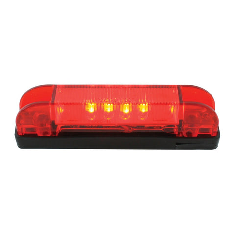 "4""L Thin Line Red/Red 6 LED Wide Angle Marker Light"