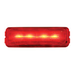 Medium RECT. Red/Red 4-LED Marker Light