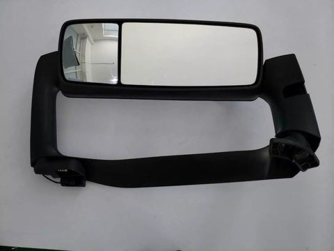 Volvo VNL Black Door Mirror with Plastic Chrome Cover