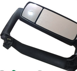 Black Volvo VNL Door Mirror w/Chrome Cover and Signal Light