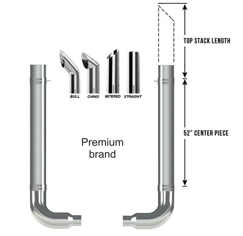 Peterbilt Premium Exhaust Kit Pickett Elbow