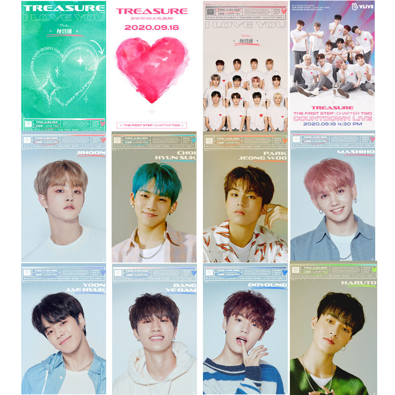 TREASURE 16 Sheets I LOVE YOU Card Sticker