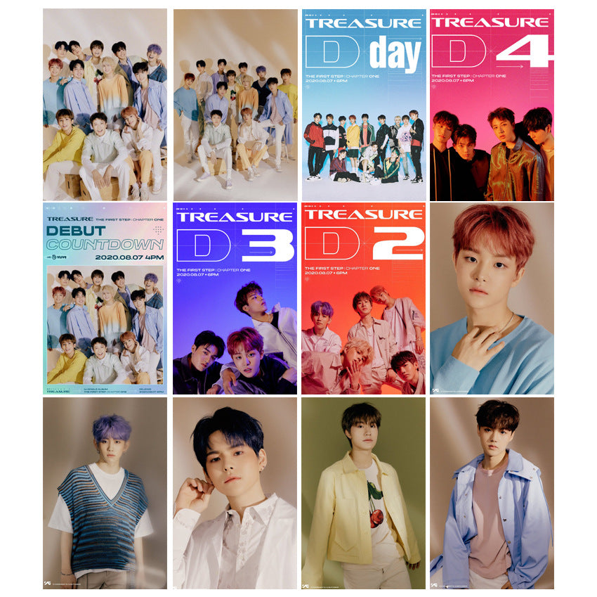 TREASURE 19 Sheets Card Sticker