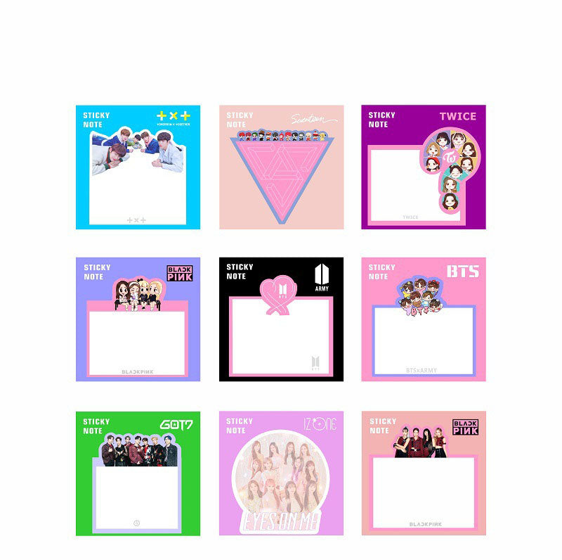 BTS BLACKPINK GOT7 SEVENTEEN TWICE IZONE TXT Sticky Notes