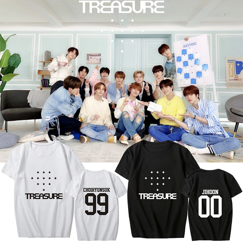TREASURE Album Black T-shirt
