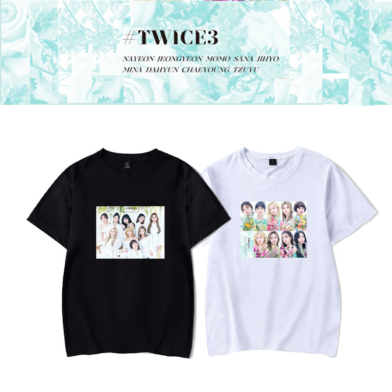 TWICE3 Album Black T-shirt