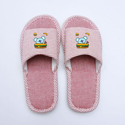 BT21 X COUPLE STRIPED INDOOR SLIPPERS - BT21 Store | BTS Online Shop