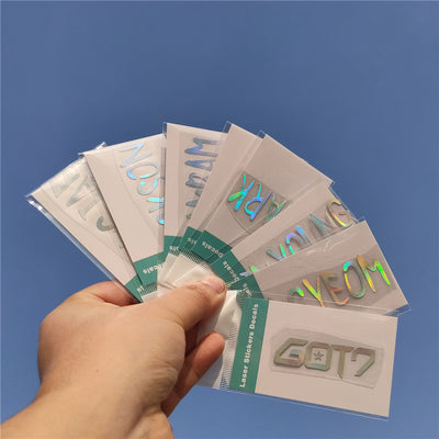 GOT7 Laser Colorful Holographic Stickers