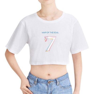 BTS X map of the soul 7 exposed navel short sleeve - BT21 Store | BTS Online Shop