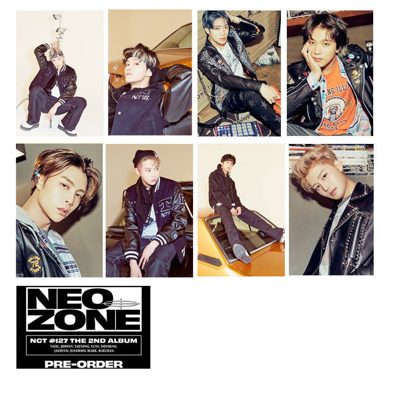 NCT 127 20 Sheets Neo Zone Card Stickers