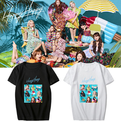 TWICE HAPPY HAPPY Short Sleeve T-shirt