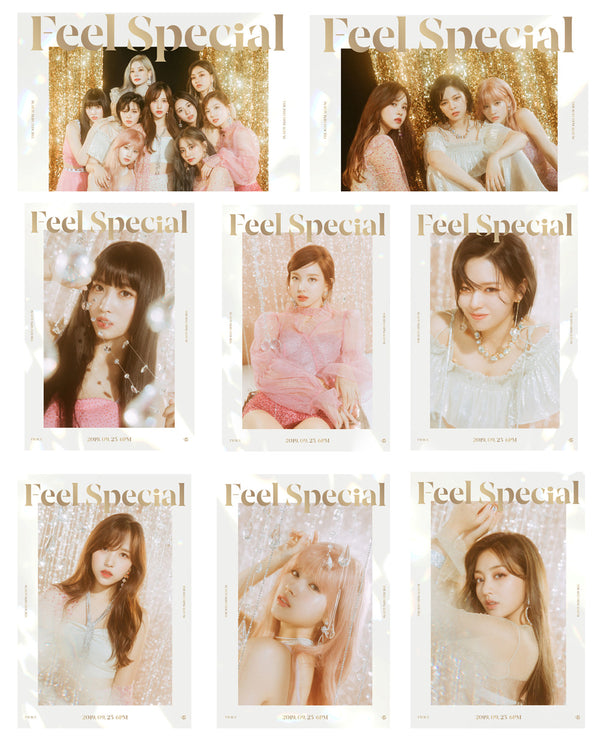 TWICE FEEL SPECIAL 14 sheets Crystal Card Stickers