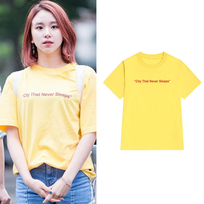 TWICE ChaeYoung CITY THAT NEVER SLEEPS T-shirt