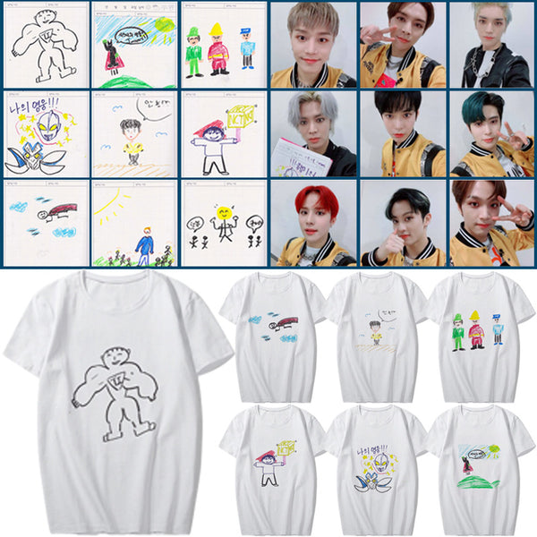 NCT127 Hand drawn cartoon short sleeve T-shirt
